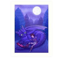 How to Train Your Dragon - Sleepy Time Art Print