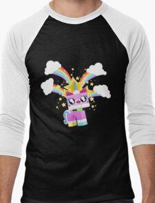 Princess Unikitty YAY! Men's Baseball ¾ T-Shirt