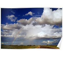 Rainbow chasing, Woomera, S.A. Poster