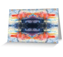Abstract Digital Art from Original Painting  Greeting Card