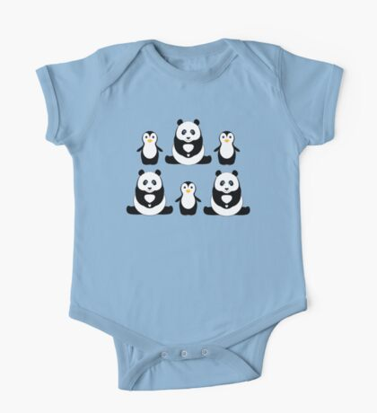 PANDAS & PENGUINS One Piece - Short Sleeve