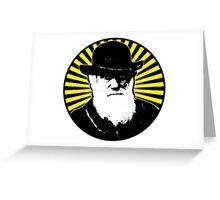 Charles Darwin starburst Greeting Card