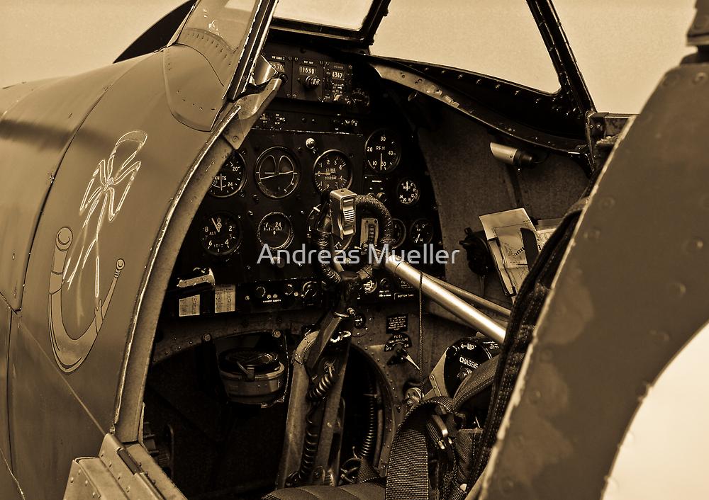 Supermarine Spitfire Cockpit by Andreas Mueller