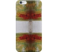 Butterfly Effect - Red Green Abstract Art  iPhone Case/Skin