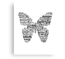 Butterfly typography Canvas Print