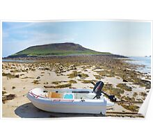 Dinghy On A Beach Poster