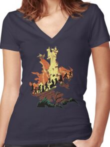 UNFINISHED RUIN Women's Fitted V-Neck T-Shirt
