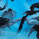 Detail 13 crows by Bornonahighway