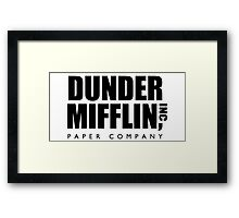 Dunder Mifflin, Inc Paper Company Framed Print
