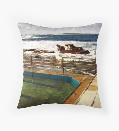 the baths by the sea Throw Pillow