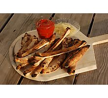 Bread Sticks with Butter & Tomato Sauce Photographic Print