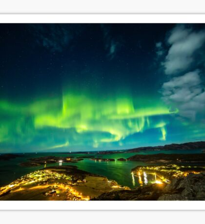 Lights Over Lauvsnes Sticker