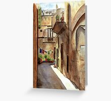 Sicilian Alley Greeting Card