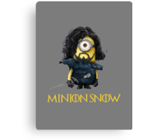 Minion Jon Snow Canvas Print