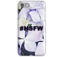NSFW Tag / Innocent Purple Flowers  iPhone Case/Skin