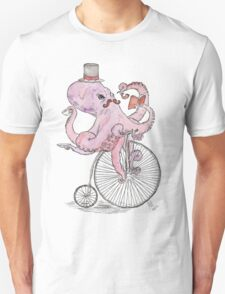 Octopus Hipster Unisex T-Shirt