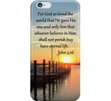 SERENE SUNSET JOHN 3:16 PHOTO DESIGN iPhone Case/Skin