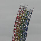 Rainbow Sculpture Reykjavik Airport Iceland by atkinnt