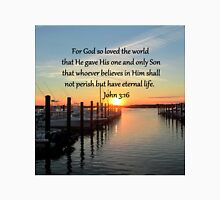 SERENE SUNSET JOHN 3:16 PHOTO DESIGN Unisex T-Shirt