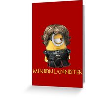 Minion Lannister Greeting Card