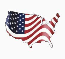 USA American Flag by JayBakkerArt