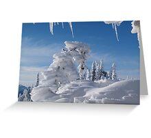 BEAUTIFUL SNOW SCULPTURES Greeting Card
