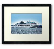 Oceana Leaving Southampton 2008 Framed Print