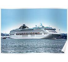 Oceana Leaving Southampton 2008 Poster