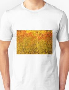 Stylized Golden and Red Shining Fall Foliage  Unisex T-Shirt