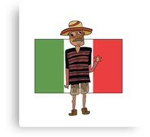 Mexican Cartoon Canvas Print
