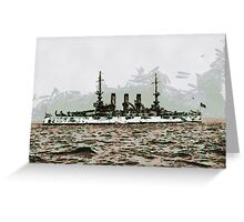 The Battleship U.S.S. Minnesota 1907 - all products Greeting Card