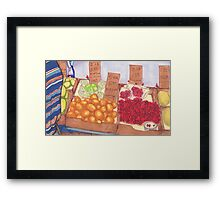 chinatown fruit stand 2 Framed Print