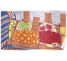 chinatown fruit stand 2 Poster