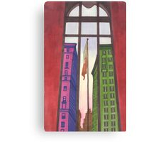 view from inside the metropolitan museum Canvas Print