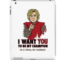 Uncle Tyrion (Red) iPad Case/Skin