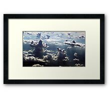 GIANTS IN THE CLOUDS Framed Print