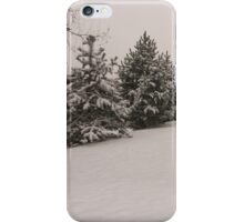 snowy green with the blocks of flats iPhone Case/Skin