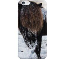 winter horse iPhone Case/Skin