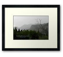 Go Slowly Framed Print