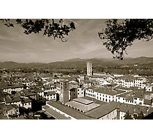 Lucca, Italy rooftops Photographic Print
