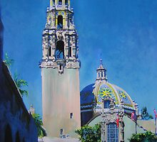 The California Bell Tower in Balboa Park San Diego by RDRiccoboni