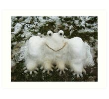 A SNOWFROG FOR YOU  Art Print