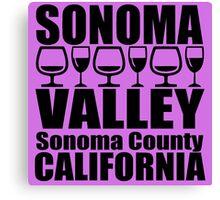 Sonoma Valley Canvas Print