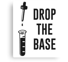 Drop the Bass Chemistry Base Canvas Print