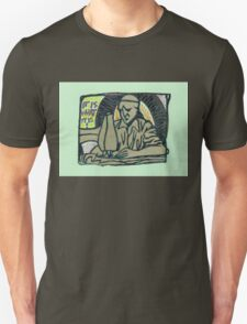sculpture of the man at a sewing machine T-Shirt