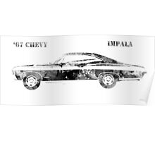67 Chevy Impala Poster