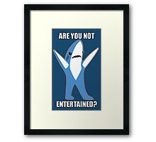 Katy Perry Half Time Performance Dancing Tsundere the Shark - Are you not entertained? Framed Print