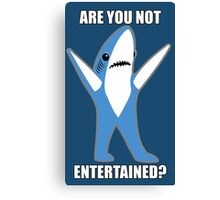 Katy Perry Half Time Performance Dancing Tsundere the Shark - Are you not entertained? Canvas Print
