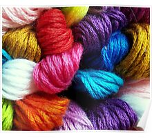 Colors of yarn Poster