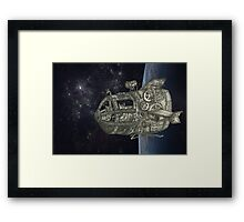 Space Exploring Framed Print